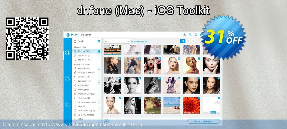 dr.fone - Mac - iOS Toolkit coupon on Easter offering sales