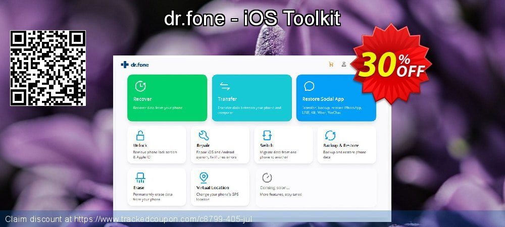 dr.fone - iOS Toolkit coupon on May Day discount
