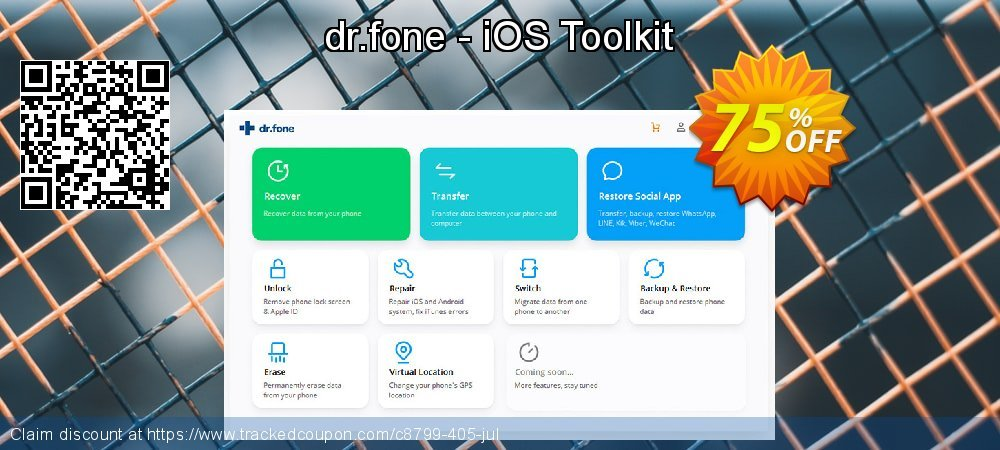 Claim 75% OFF dr.fone - iOS Toolkit Coupon discount November, 2020