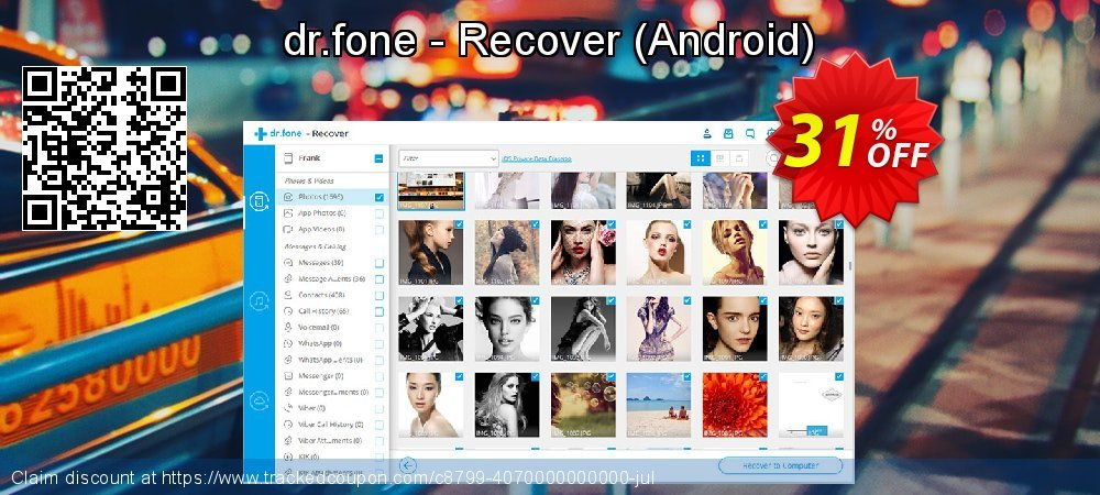 dr.fone - Recover - Android  coupon on Thanksgiving promotions