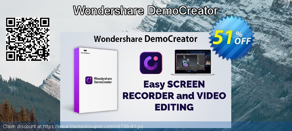 Wondershare DemoCreator for Windows coupon on Father's Day super sale