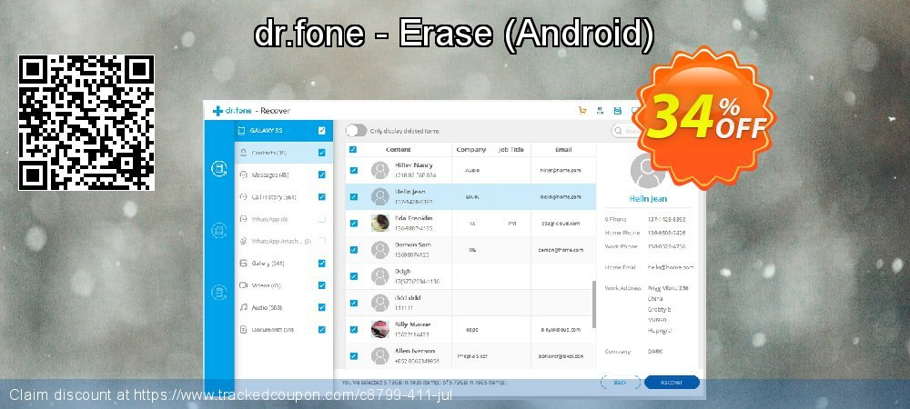 dr.fone - Erase - Android  coupon on Lunar New Year offer