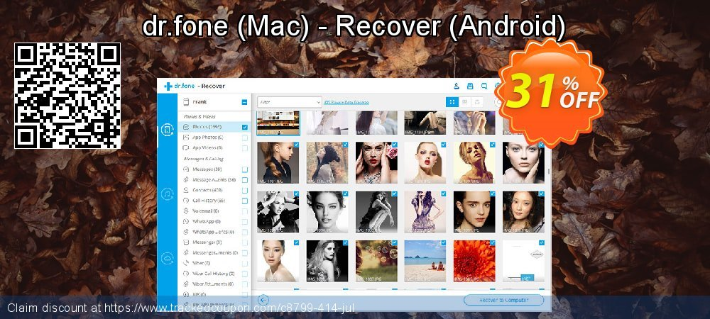 dr.fone - Mac - Recover - Android  coupon on Happy New Year offering sales