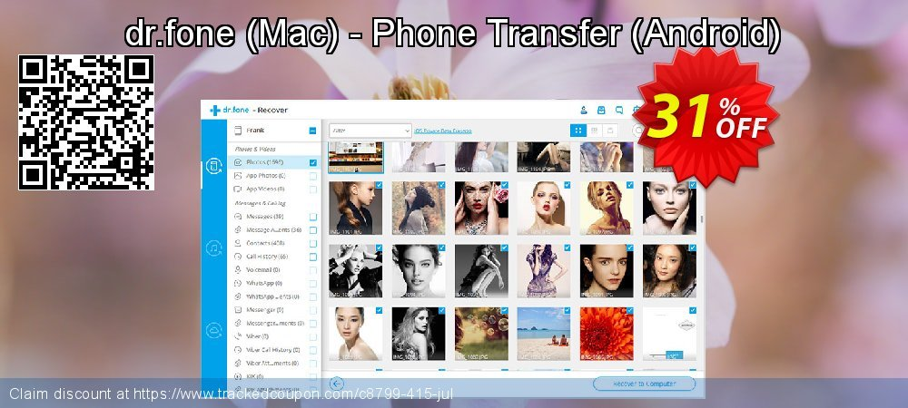 dr.fone - Mac - Phone Transfer - Android  coupon on Halloween super sale
