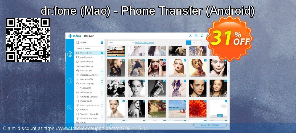 dr.fone - Mac - Phone Transfer - Android  coupon on Spring sales