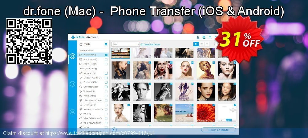 Claim 31% OFF dr.fone - Mac - Phone Transfer - iOS & Android Coupon discount August, 2020