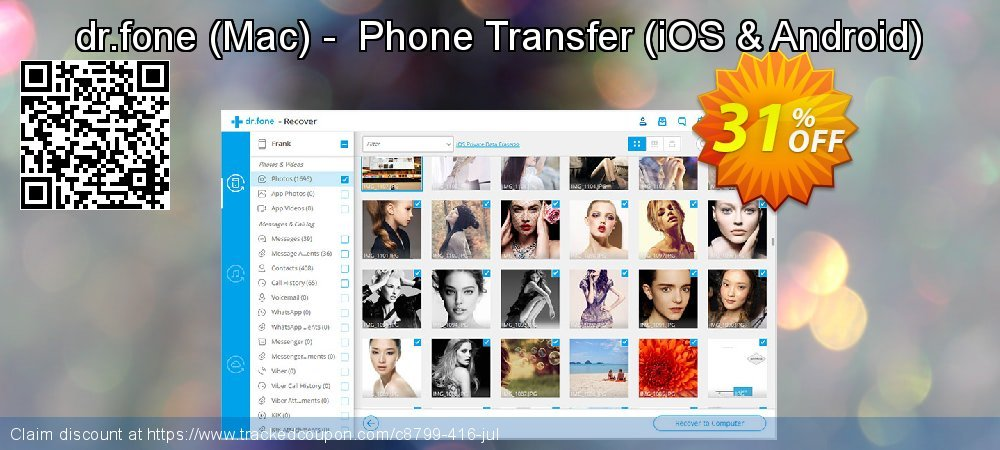 dr.fone - Mac -  Phone Transfer - iOS & Android  coupon on  Lover's Day promotions
