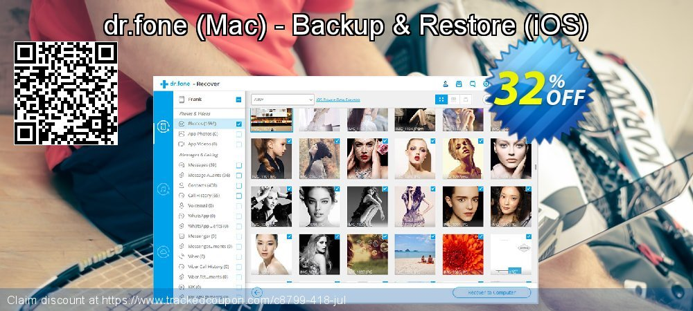 Claim 30% OFF dr.fone (Mac) - Backup & Restore (iOS) Coupon discount May, 2019