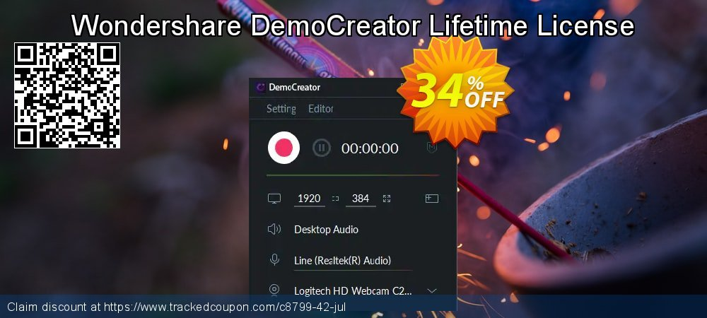 Wondershare DemoCreator Lifetime License coupon on Happy New Year offer