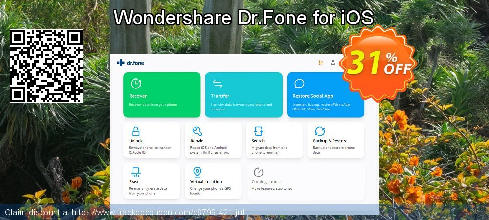 Wondershare Dr.Fone for iOS coupon on Christmas Day offering sales