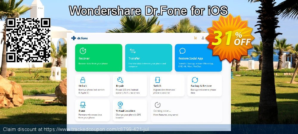 Wondershare Dr.Fone for iOS coupon on New Year's Day discount