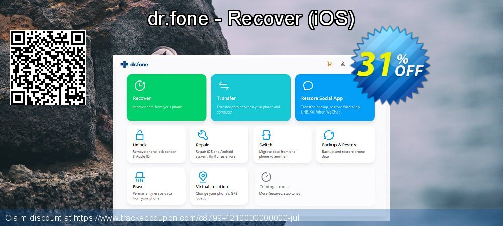 dr.fone - Recover (iOS) coupon on Summer promotions