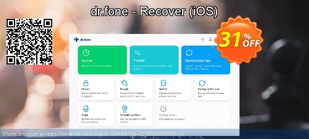 Claim 31% OFF dr.fone - Recover - iOS Coupon discount November, 2020