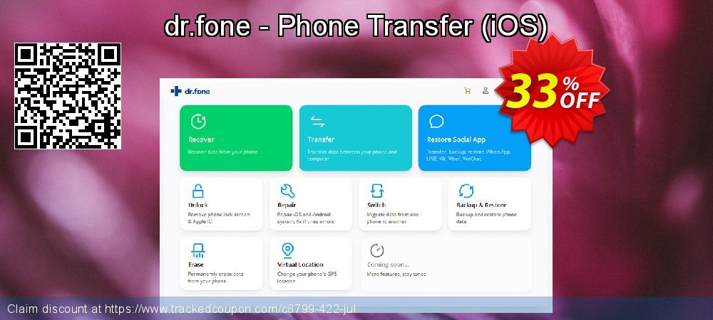 dr.fone - Phone Transfer - iOS  coupon on Exclusive Student deals offer