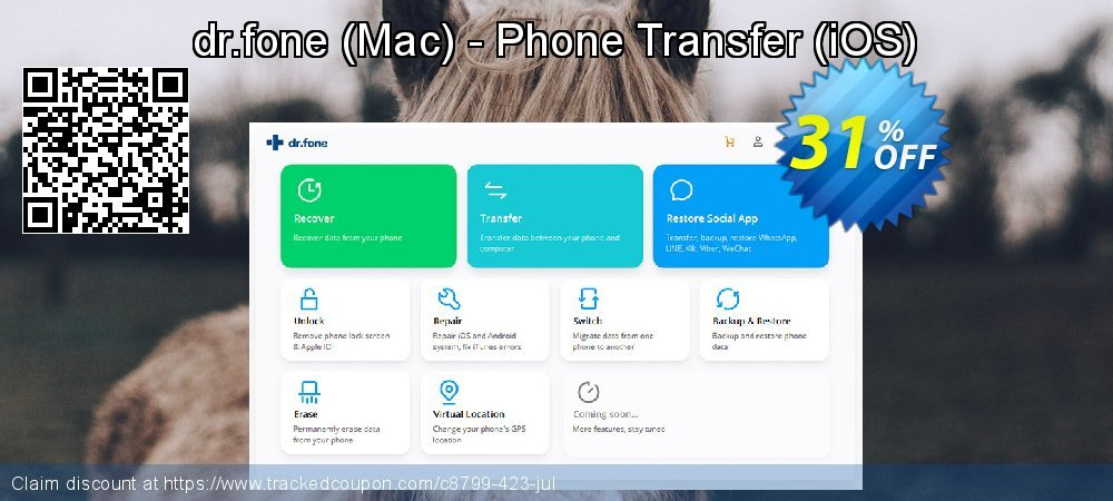 dr.fone - Mac - Phone Transfer - iOS  coupon on Halloween offering sales