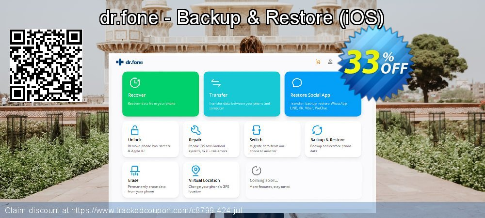 dr.fone - Backup & Restore (iOS) coupon on Exclusive Student discount offering discount