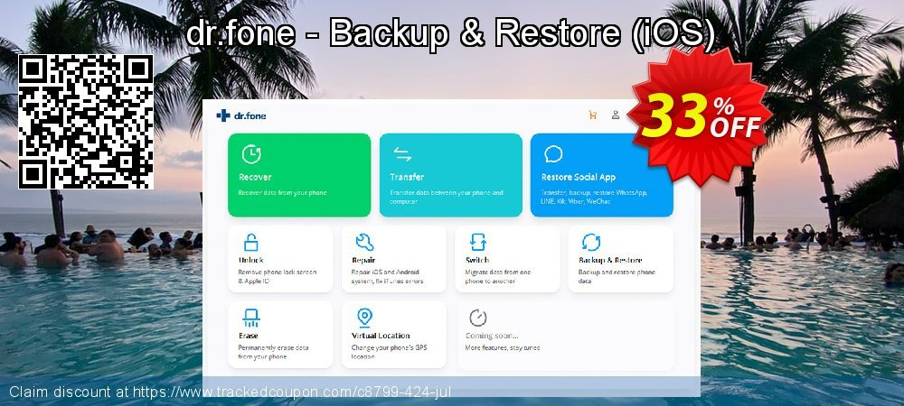 dr.fone - Backup & Restore - iOS  coupon on New Year super sale