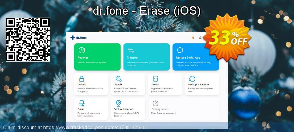 Claim 33% OFF dr.fone - Erase - iOS Coupon discount March, 2020
