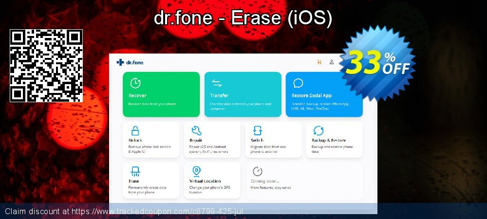 dr.fone - Erase - iOS  coupon on Easter Sunday deals