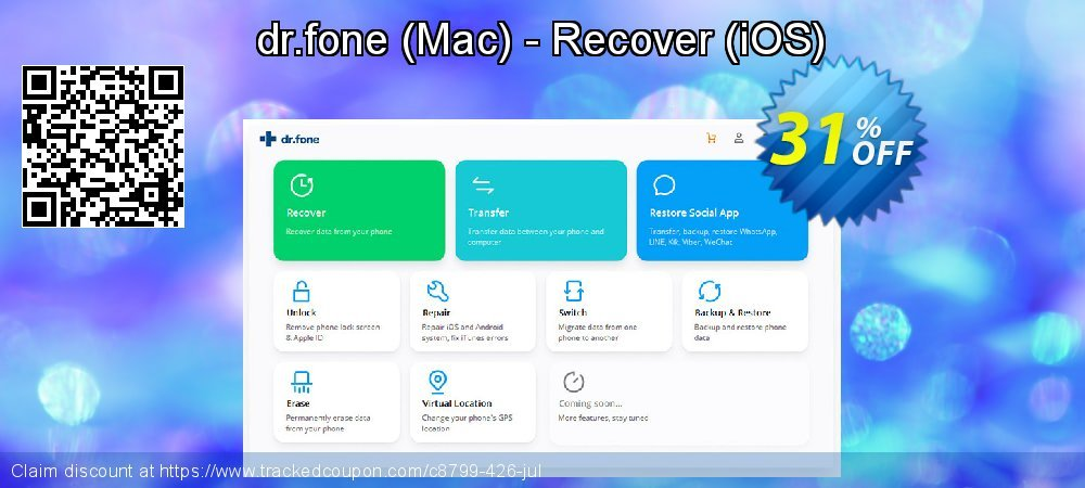 dr.fone - Mac - Recover - iOS  coupon on Halloween promotions