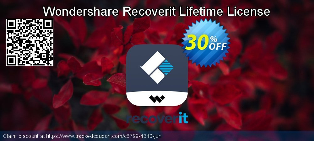Claim 30% OFF Recoverit Lifetime License Coupon discount August, 2021