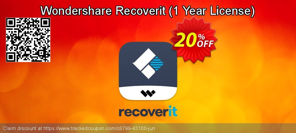 Claim 20% OFF Wondershare Recoverit - 1 Year License Coupon discount August, 2021