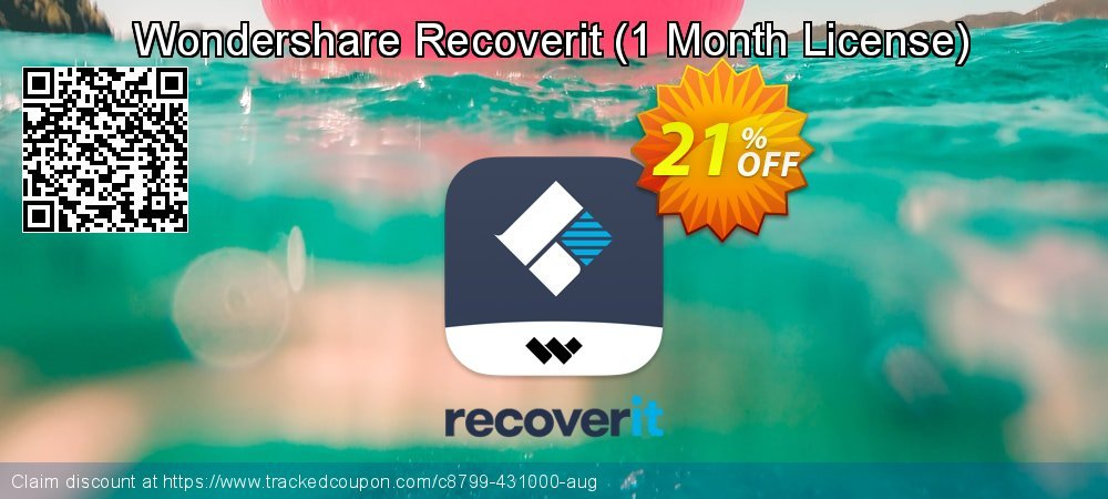 Claim 21% OFF Wondershare Recoverit - 1 Month License Coupon discount August, 2021