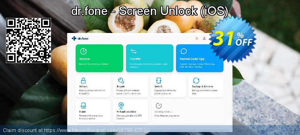 dr.fone - Screen Unlock - iOS  coupon on Back to School shopping super sale