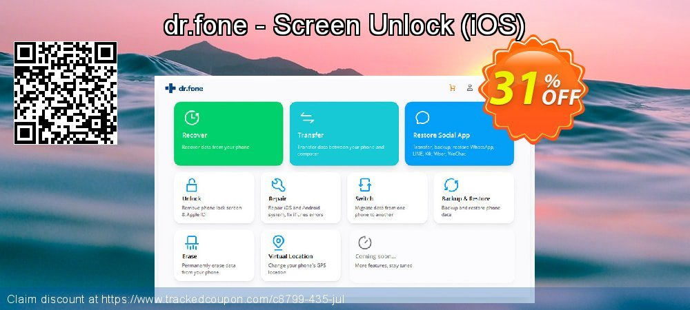 dr.fone - Screen Unlock - iOS  coupon on Lunar New Year promotions