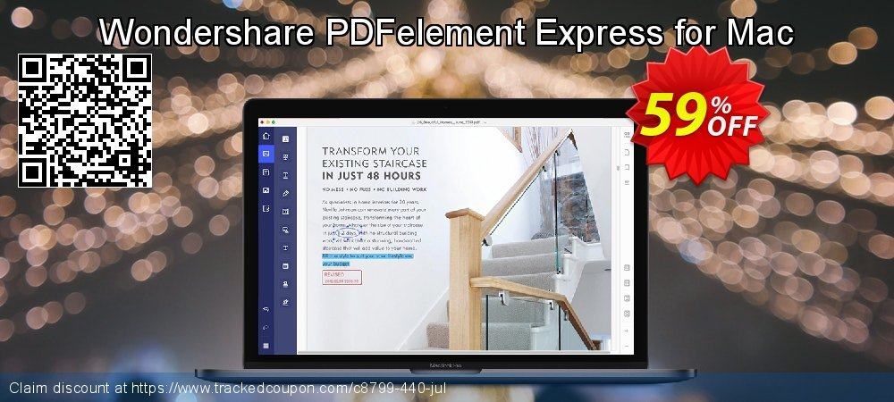 Get 36% OFF Wondershare PDFelement Express for Mac offering sales