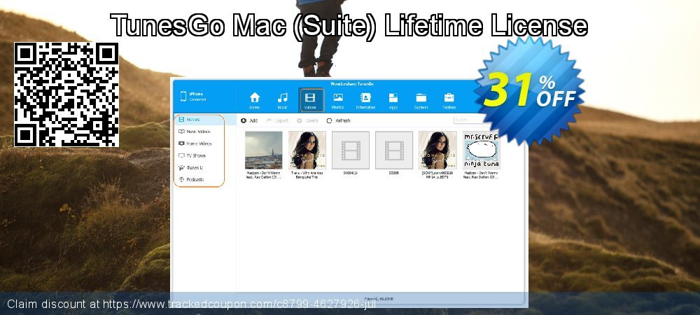TunesGo Mac - Suite Lifetime License coupon on Int'l. Women's Day discounts