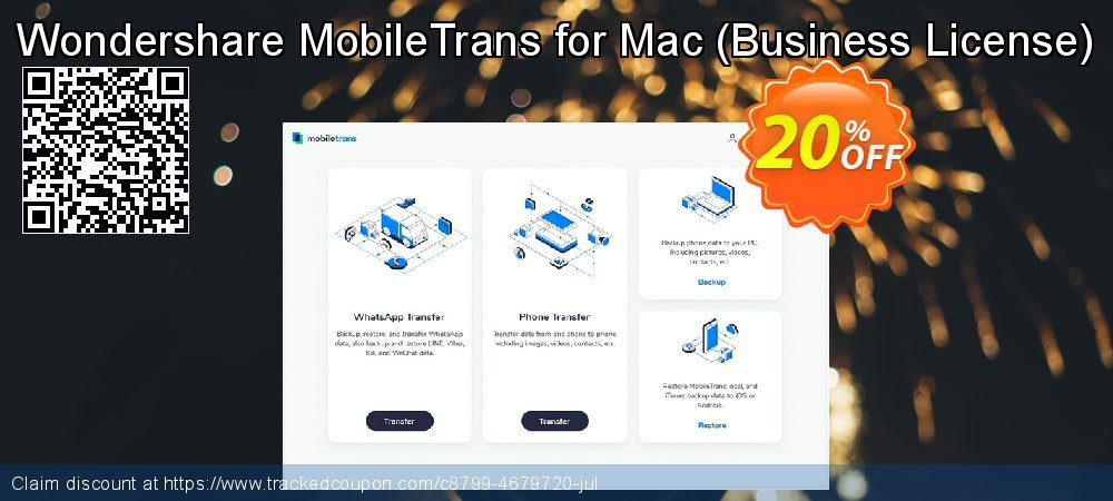 Wondershare MobileTrans for Mac - Business License  coupon on Father's Day discount