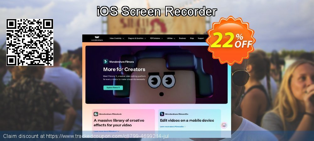 iOS Screen Recorder coupon on Valentine's Day offering sales
