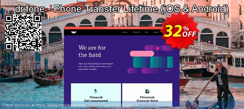 dr.fone - Phone Transfer Lifetime - iOS & Android  coupon on Back to School season offering discount