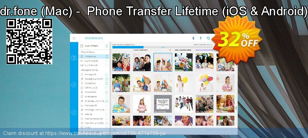 dr.fone - Mac -  Phone Transfer Lifetime - iOS & Android  coupon on Mid-year discounts