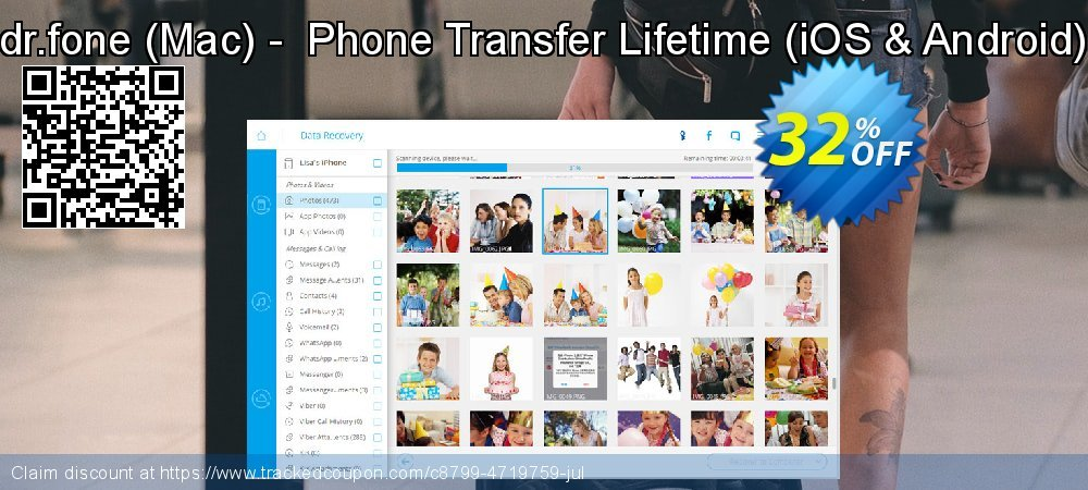 dr.fone - Mac -  Phone Transfer Lifetime - iOS & Android  coupon on Valentine's Day discount