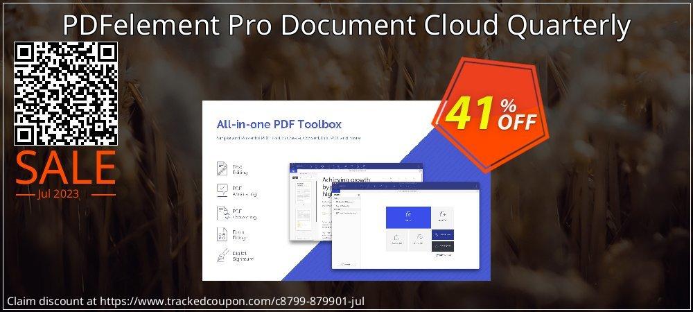 Get 40% OFF PDFelement Pro Document Cloud Quarterly promotions