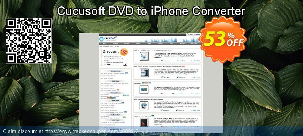 Cucusoft DVD to iPhone Converter coupon on Halloween promotions