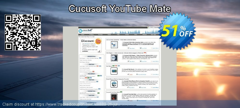 Cucusoft YouTube Mate coupon on Halloween offering discount