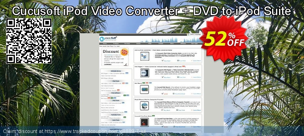 Cucusoft iPod Video Converter + DVD to iPod Suite coupon on University Student offer offer