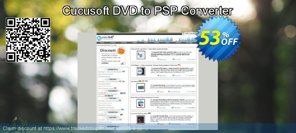 Cucusoft DVD to PSP Converter coupon on Halloween offering sales