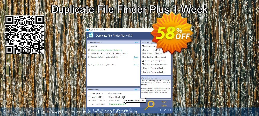 Duplicate File Finder Plus 1 Week coupon on National Coffee Day super sale