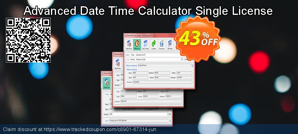 Advanced Date Time Calculator Single License coupon on National Singles Day deals