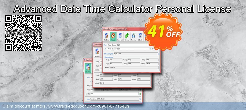 Advanced Date Time Calculator Personal License coupon on National Family Day offer