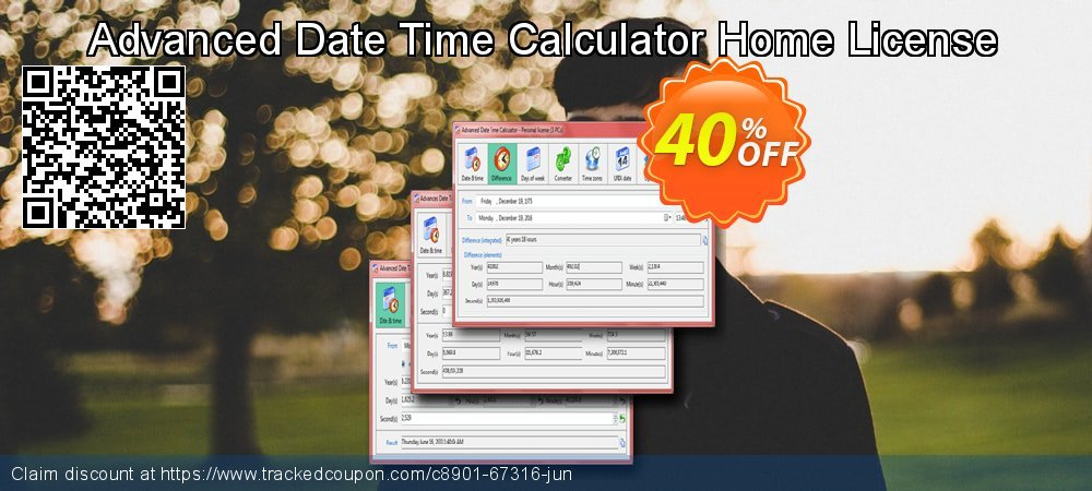 Advanced Date Time Calculator Home License coupon on National Coffee Day discount
