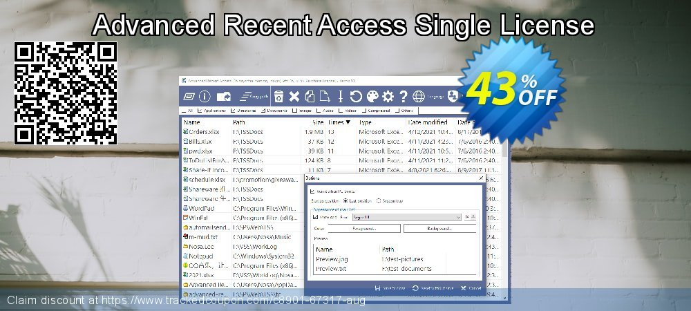 Advanced Recent Access Single License coupon on Lazy Mom's Day offering discount
