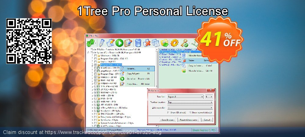 1Tree Pro Personal License coupon on Cheese Pizza Day discount