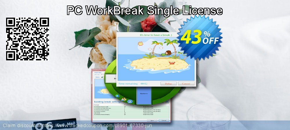 PC WorkBreak Single License coupon on IT Professionals Day promotions