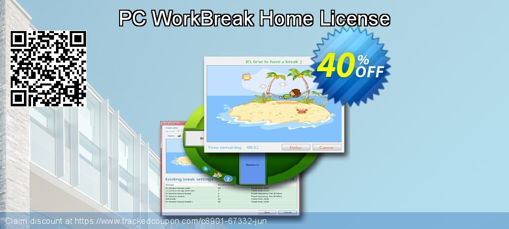 PC WorkBreak Home License coupon on National Family Day deals