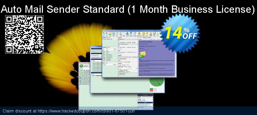 Auto Mail Sender Standard - 1 Month Business License  coupon on National Singles Day promotions